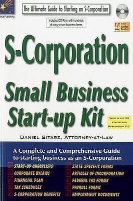 S Corporation Small Business Start Up Kit By Daniel Sitarz 2010 Mixed Media For Sale Online Ebay