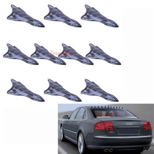 10PCS Car Air Vortex Generator Diffuser Shark Fin For Spoiler Roof Wing Tip Type
