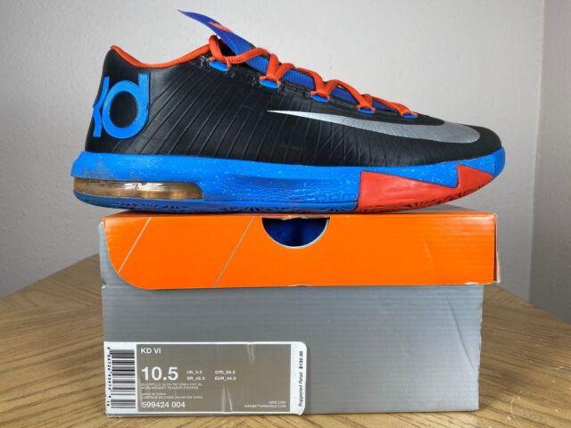 Men's Nike KD 6 VI Thunder Away Black