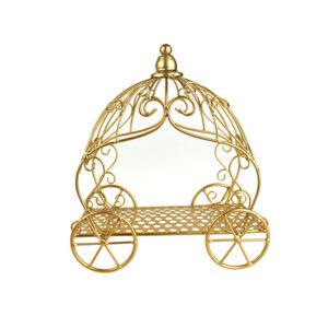 Metal Pumpkin Carriage Gold 12 Inch Ebay