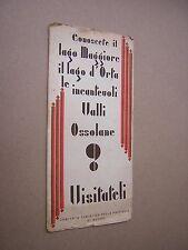 circa 1930s. VALLI OSSOLANE (ITALY) TRAVEL HOLIDAY BROCHURE. ADVERTISING