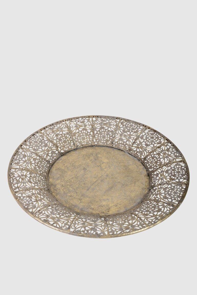 outlet online CANDELE PIATTI FRUTTA guscio metallo oro, Orient Marocco, Oriental, fatto fatto fatto a mano  prezzi bassi