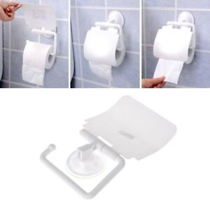 Image Is Loading Wall Mounted Plastic Suction Cup Bathroom Toilet Paper