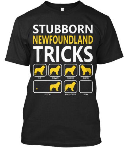 Sit Down Shake Come Standard Unisex T-shirt Stubborn Newfoundland Tricks Dogs
