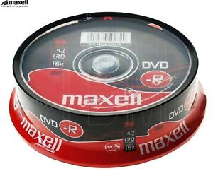 Maxell-Dvd-R-4-7GB-16x-Velocidad-120min-Grabable-DVD-Discos-Spindle-Pack-25