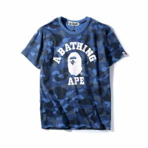 Bape t shirt Camo Head A Bathing Ape tee shirt US size