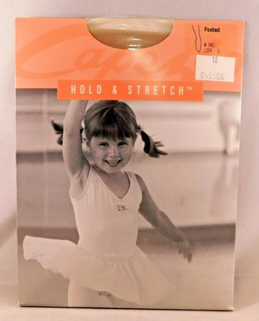 Capezio Hold /& Stretch Footed Tights for Girls New Style 14C