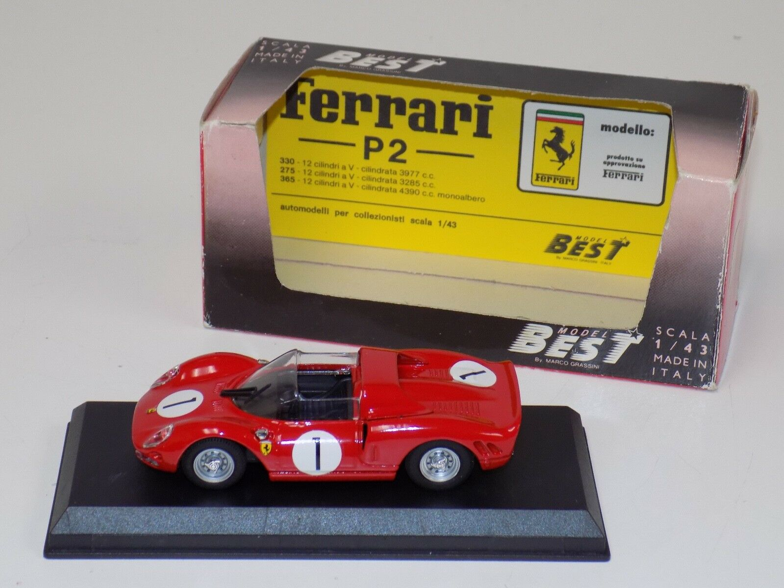 1 43 Best Model Ferrari P 2 Car Car Car from 1965 Nurburgring 80d26e