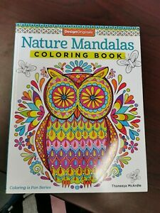 Nature-Mandalas-Coloring-Booke-New-Neuf-Cahier-A-Colorier