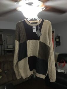 Mens Sm Liberty Sweaters Cotton Acrylic Blend Sweater Made In