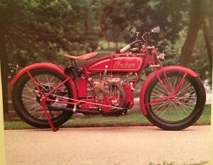 Vintage early indian motorcycle rare car poster wow ebay for Ebay motors indian motorcycles