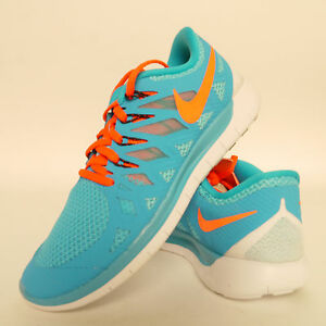 huge discount 5b1c6 d60c6 Image is loading Nike-Free-5-0-Blue-Lagoon-Size-6-