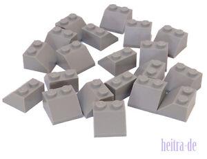 LEGO-20-x-Dachstein-45-Grad-2x2-hellgrau-L-Bluish-Gray-Slope-3039-NEUWARE