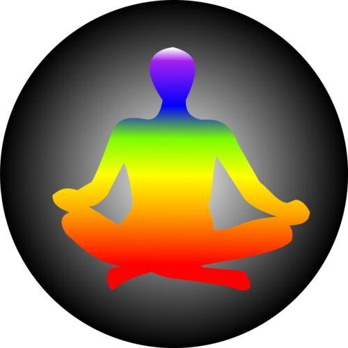 Chakra aura chakra meditare meditazione Novità 25mm pulsante pin badge.