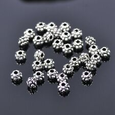 """3.5mmx3.2mm 500PCs Metal Spacer Beads Flower Silver 1//8/""""x1//8/"""" Tone"""