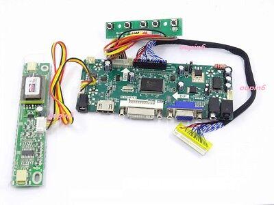 """HDMI+DVI+VGA controller board Kit diy for AUO B170PW07 V0 V1 1440X900 17/"""" screen"""