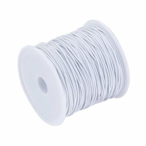10 Rolls Round Elastic Cords Stretchy Jewelry Threads Thin Rope White 1mm DIA