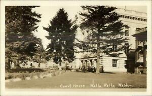 Walla-Walla-WA-Court-House-Real-Photo-Postcard