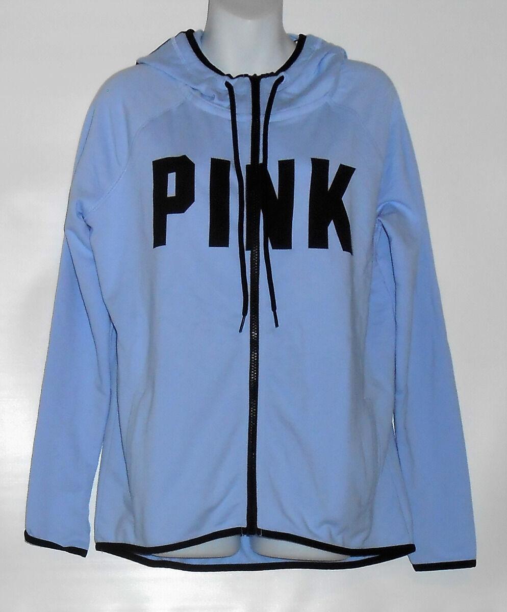 Victoria's Secret Rosa High Low Full Zip Hoodie Spring Blau Medium (M) NWT