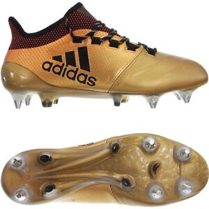 3d2ce9721 Adidas X 17.1 SG Leather gold Men's soccer football boots studs ...