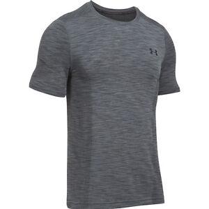 Under-Armour-Heatgear-Ajustado-threadborne-de-punto-manga-corta-camiseta
