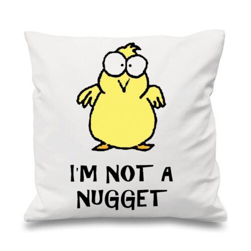 "I/'m Not A Nugget Vegetarian 18/"" x 18/"" Cushion Vegan Gift Present"