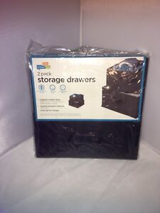Honey-Can-Do-SFT-01248-Drawers-For-Hanging-Organizer-2-Pack-Black