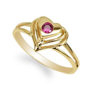 K Pink Cz Ring