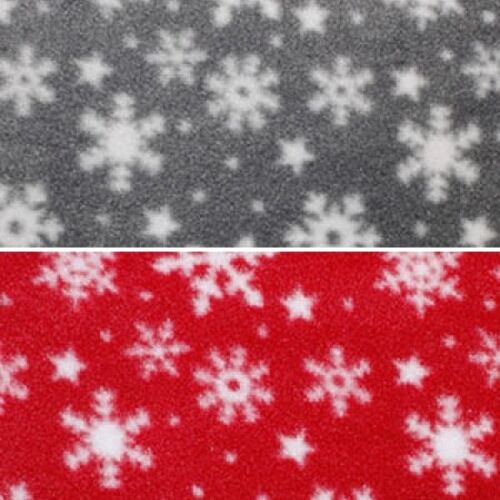 Snowy Night Snowflakes and Shining Stars Polar Fleece Anti Pil Fabric