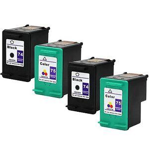 Image Is Loading 4PKs HP 74 75 Ink Cartridge For Photosmart