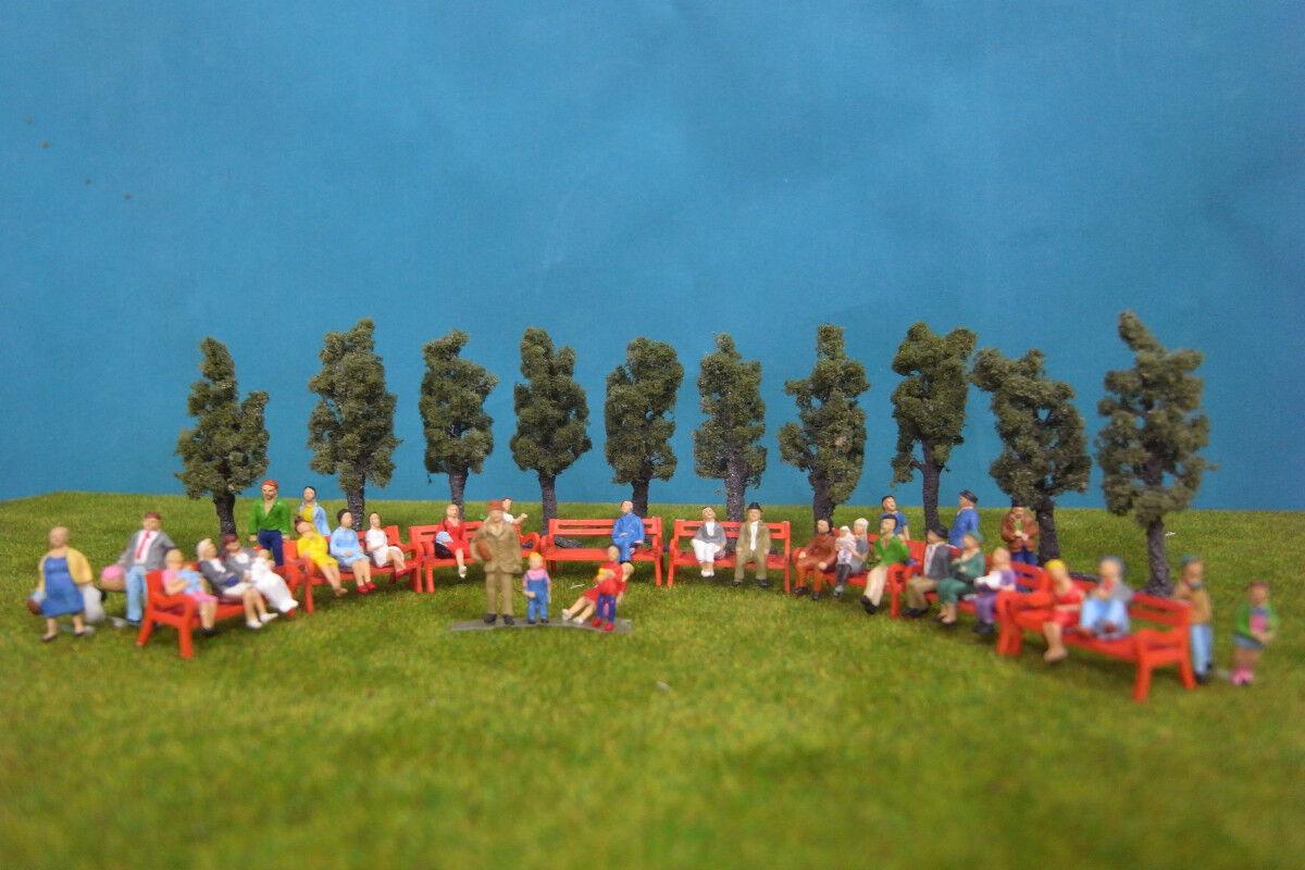 VFVT021-10x Scale Train Fruit Layout Model Trees HO & 64pcs 1 87 Painted Figures