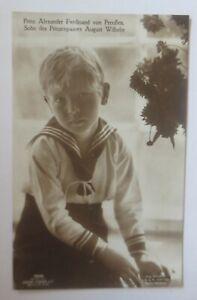 Adel, Prinz Alexander Ferdinand von Preußen Sohn v. August Wilhelm 1908 ♥(44660)