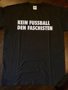 T-Shirt-KEIN-FUSSBALL-DEN-FASCHISTEN-St-Pauli-XL-Antifa-Punk-gegen-Nazis-FC
