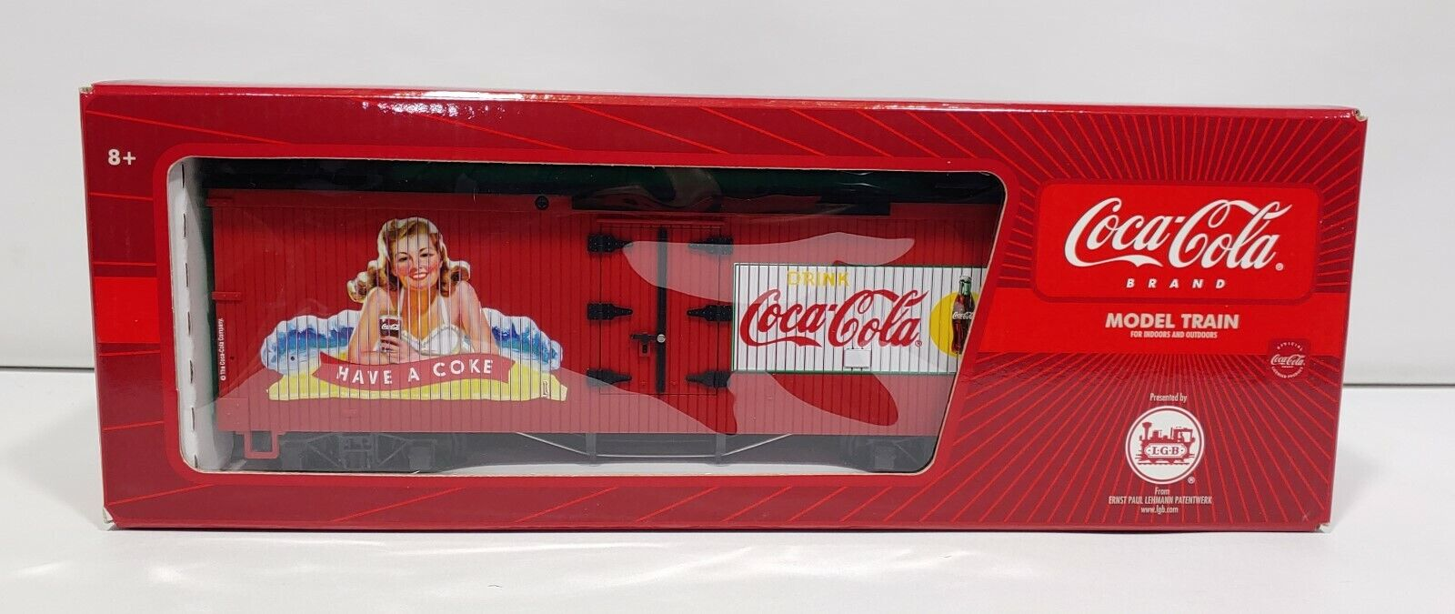LGB Coca Cola Marca refrigerado coche de caja tienen una coca cola