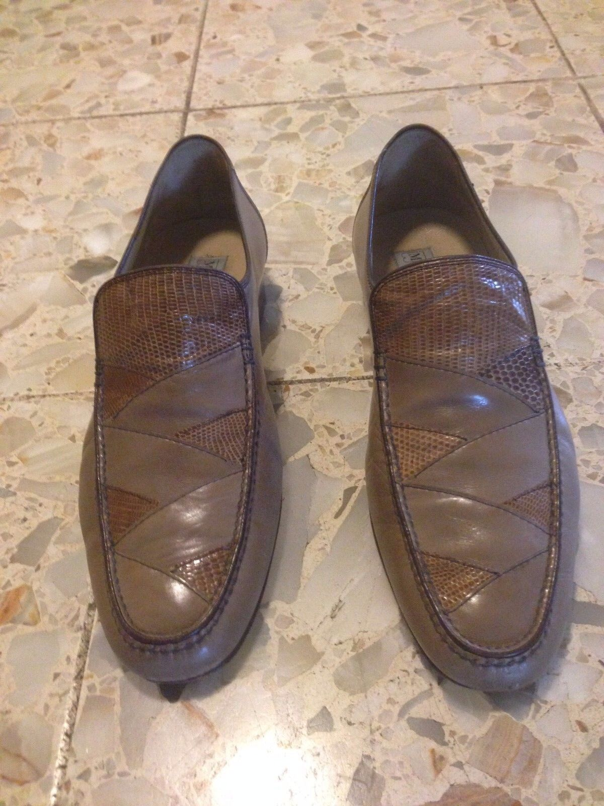Bally Switzerland  Vintage Brown Loafers 7.5
