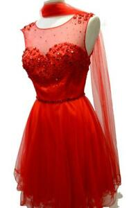 5d9e5071ca44 Caricamento dell immagine in corso MAIDOMA -luxury-abito-donna-mini-colore-rosso-con-
