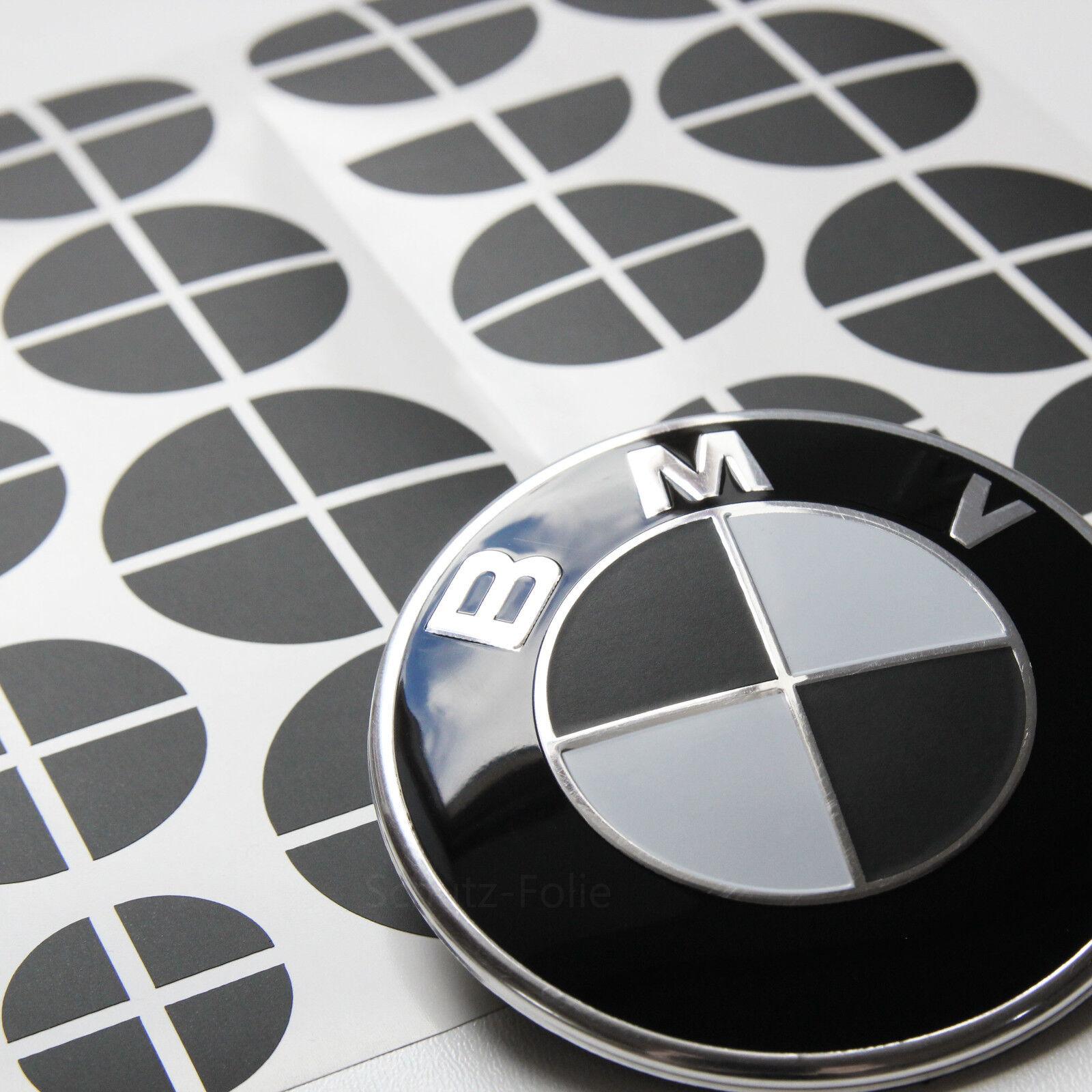 Set für alle Embleme am Auto in matt schwarz 58 tlg BMW Emblem Aufkleber