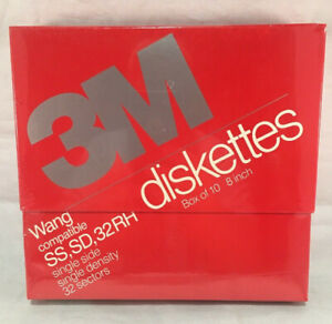 3M-8-034-Wang-Compatible-Floppy-Disks-Diskettes-SS-SD-32-RH-DC-051111-10-Pack
