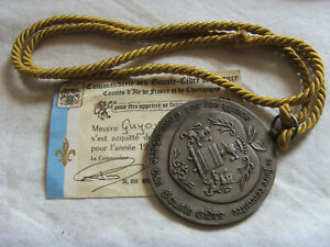 DEC5891-MEDAILLE-COMMANDERIE-DES-GOUSTE-CIDRE-DE-FRANCE-CARTE