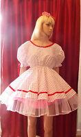 Unisex Short Adult Baby Dress Fancy Dress Sissy Lolita Cosplay Dress Up