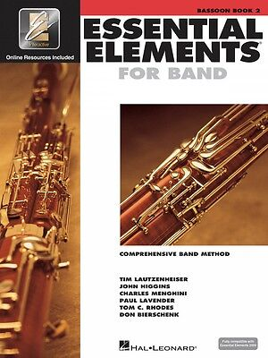 Musical Instruments & Gear Useful Essential Elements For Band Book 2 With Eei Bassoon Book With Online 000862590 Let Our Commodities Go To The World Instruction Books, Cds & Video