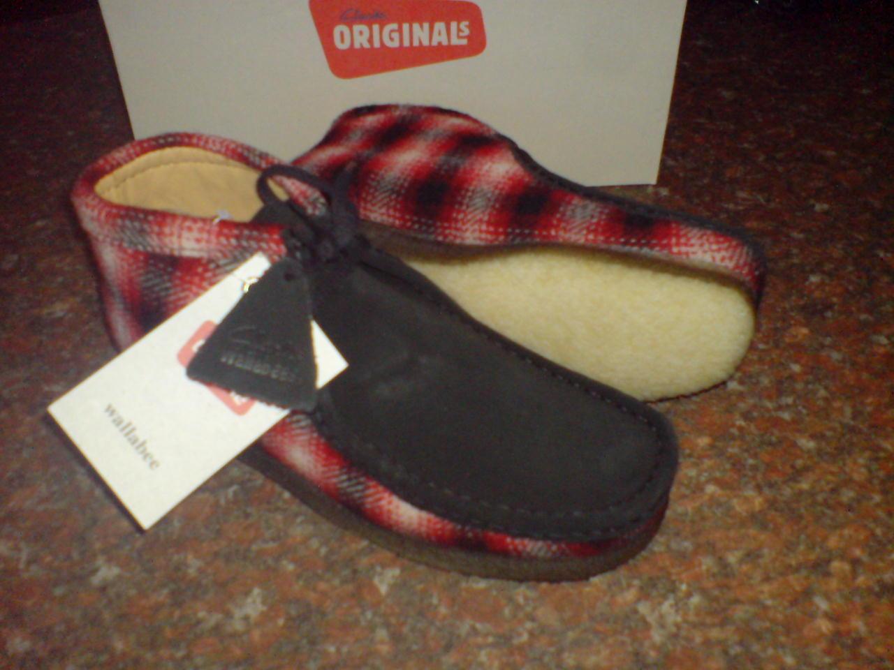 Clarks Originals Men  WALLABEES  BOOT  RED COMBI  UK 6,7,8,9,10,11,12,13 G