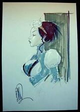 "LADY MECHANIKA ORIGINAL ART COMMISSION BY JOE BENITEZ / LARGE 12""X18"""