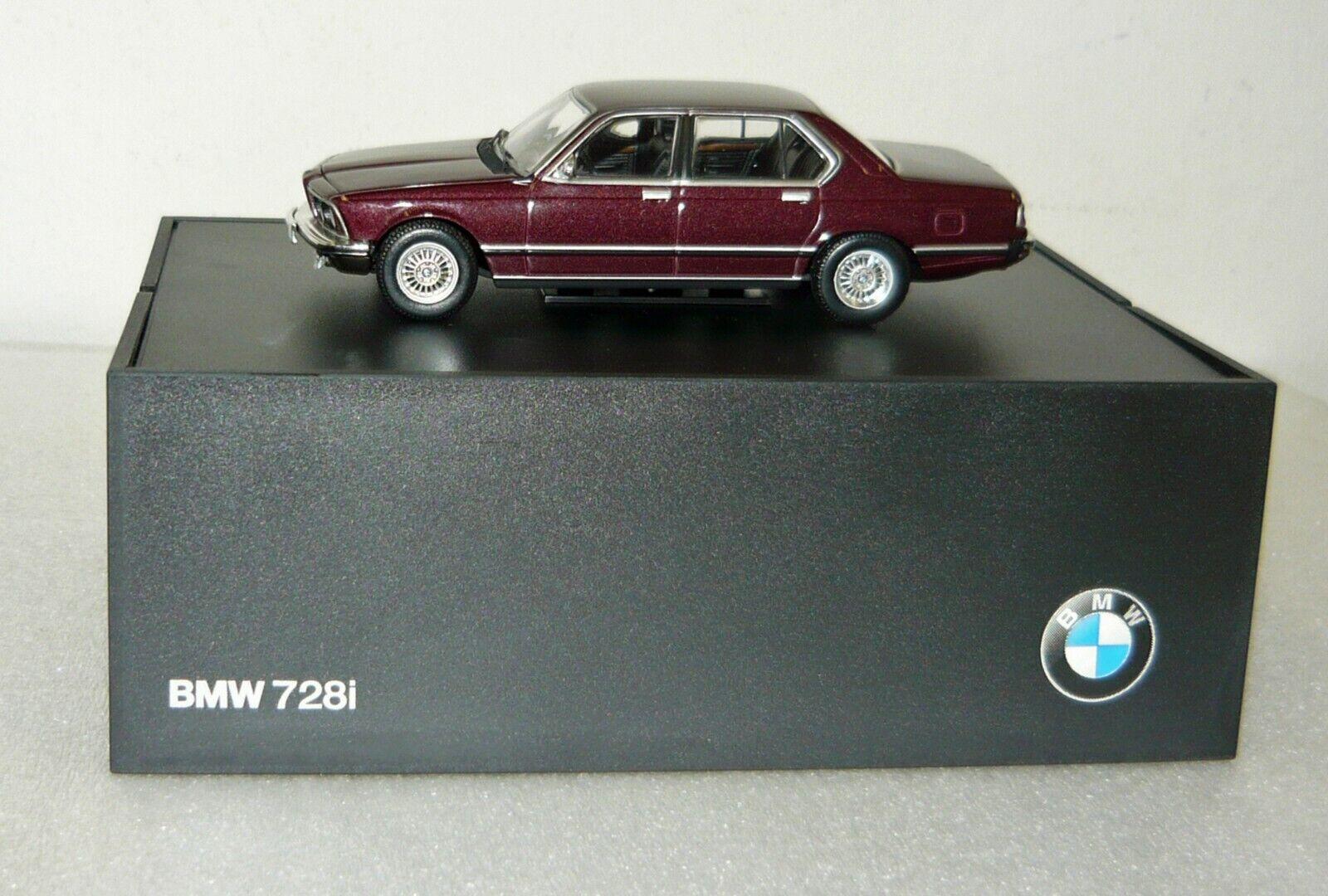 BMW commerçant modèle 80420390514, bmw 728i, bordeaux métallisé, 1 43, neu&ovp