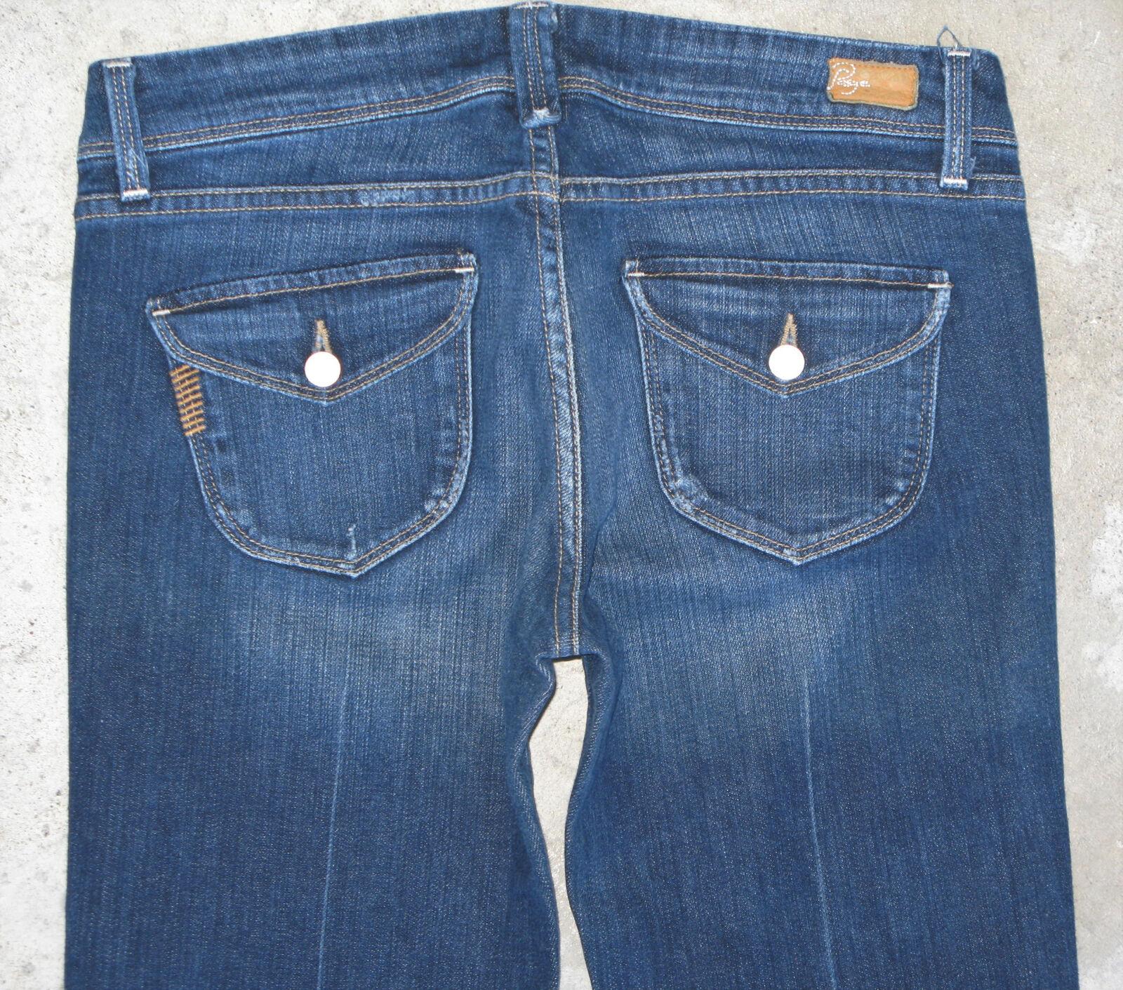 Paige Premium Jeans Pico Low Rise Bootcut Wmn Sz 29 w Flap Pocs Distressed Wash