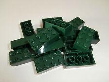 ++  LEGO CITY  15  dunkelgrüne  Bausteine  2x4  Noppen   NEUWARE  ++