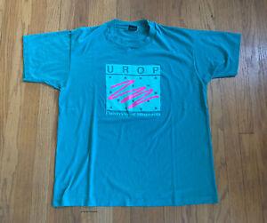 Minnesota-Golden-Gophers-Undergrad-Teal-Vintage-Single-Stitch-Size-XL-Rare-USA