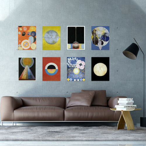 Hilma Af Klint Modern Abstract Painting Symbols Wall Art Print Poster Pack of 8