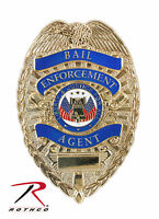 Rothco 1947 Deluxe Bail Enforcement Agent Identification Badge Gold Finish
