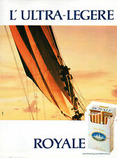Publicité Advertising 1986  Cigarette ROYALE ULTRA LEGERE
